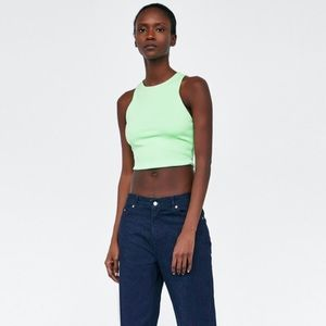 Zara Green Cropped Top